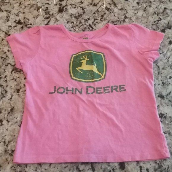 John Deere Other - John Deere Pink/Green Glitter  T-Shirt